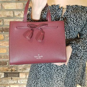 Kate Spade Small Satchel Hayes Cherrywood Crossbod